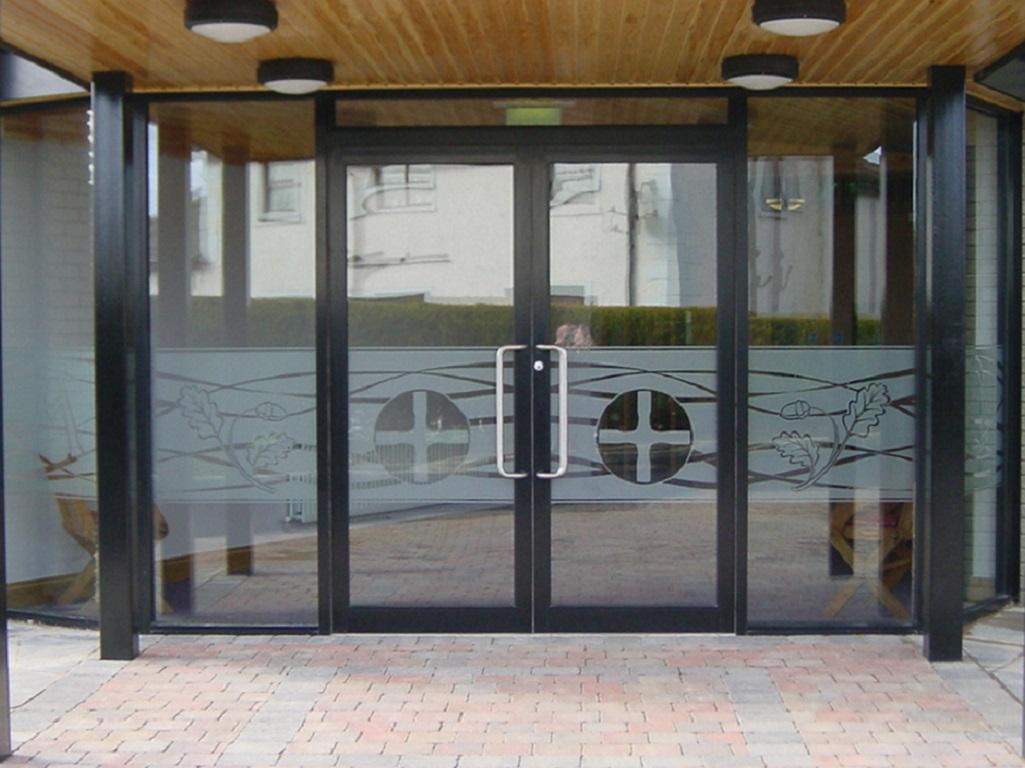 Installation of glass doors